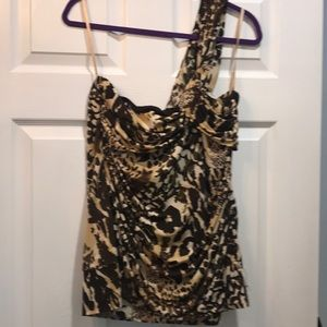TORRID One sleeve animal print top
